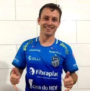 Fernando Hamann, enquanto atleta do São Lourenço do Oeste/SC