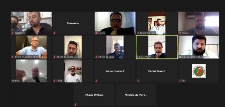 Reunião desta quinta-feira foi feita em formato on-line
