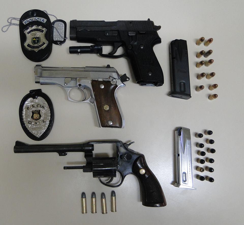 Dic apreende armas de uso restrito for Uso e porte de arma