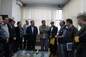 Reunião foi realizada no final desta tarde no gabinete do prefeito de Porto União