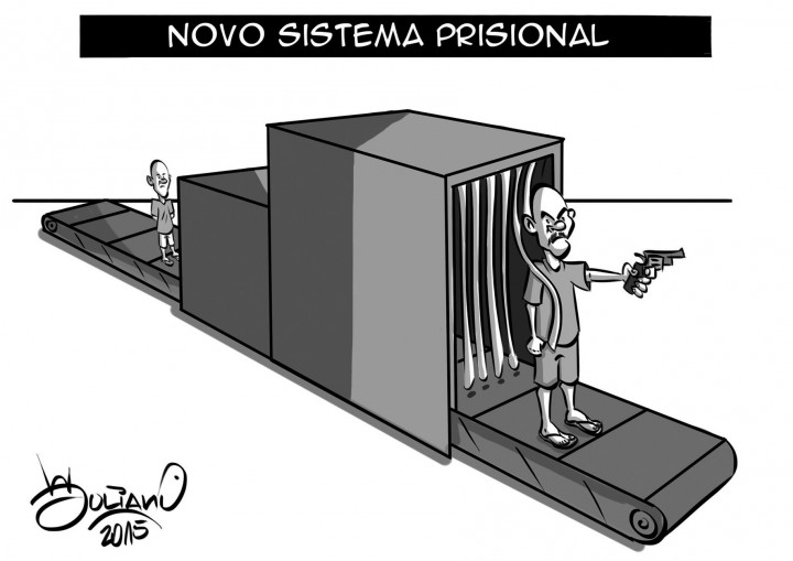 Resultado de imagem para sistema prisional charge