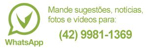 Whatsapp Vvale - Mande sugestões, notícias, fotos e vídeos para: (42) 9981-1369