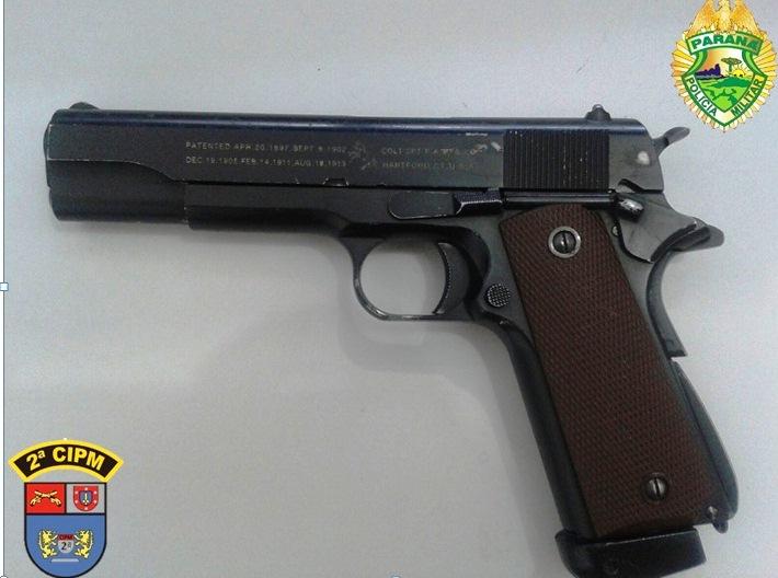 Armario Embutido Quarto Pequeno ~ PM de Uni u00e3o da Vitória apreende revolver e simulacro Vvale