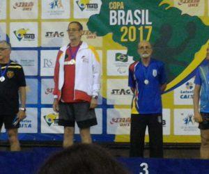 Ivo Solanho, no terceiro lugar do pódio