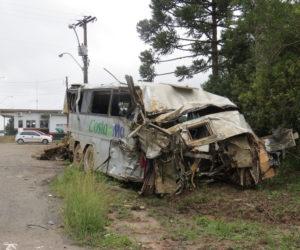 Ensinamento: destroços serviram de vitrine para quem descia a Serra Dona Francisca