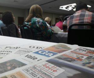Jornais do Rio Grande do Sul trocaram experiências sobre o futuro do jornal em papel. (Foto: Mariana Honesko).