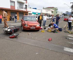 aa9cbcf12 Colisão aconteceu entre as ruas D. pedro II e Barão do Rio Branco, no centro