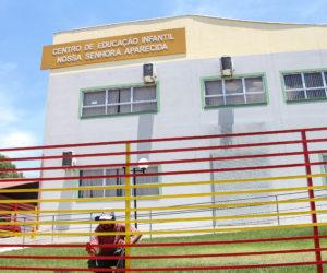 O Centro de Educação Infantil Nossa Senhora Aparecida é uma das unidades de ensino que recebe melhorias durante as férias