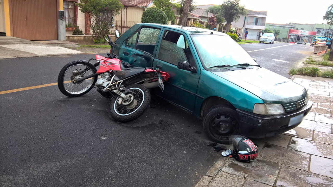 633e51620 Motociclista fica ferido em acidente em Porto União - Segurança - Vvale