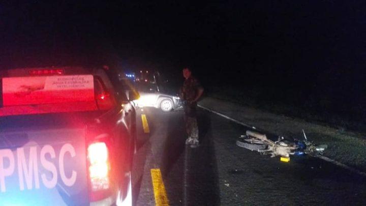 Motociclista morreu no local (Foto: Divulgação/PMA Canoinhas).