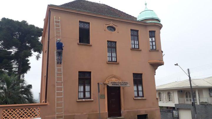 Castelinho está passando por reforma para garantir segurança e beleza aos visitantes e expositores (Foto: Assessoria).