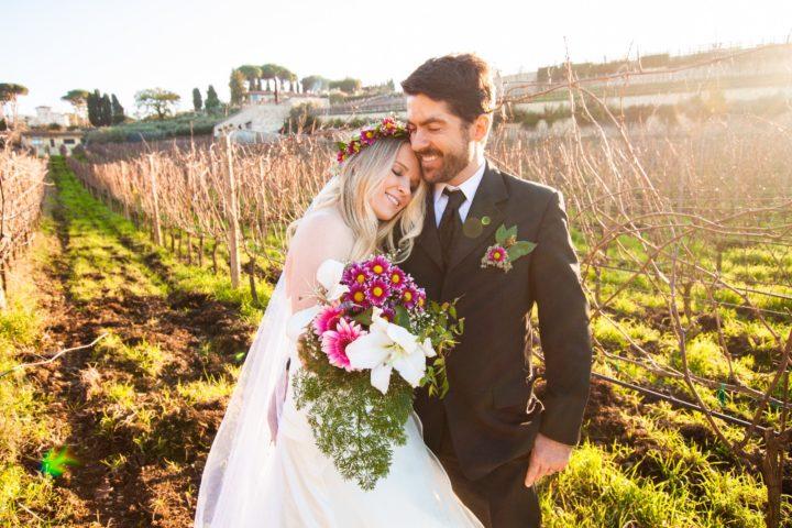 A cerimônia de casamento foi logo no início da viagem, em Roma (Fotos: Divulgação).