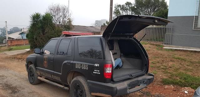 Mandados são cumpridos em Santa Catarina e no Paraná (Foto: Polícia Civil/Divulgação).