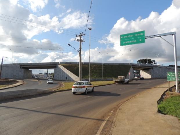 Crime aconteceu entre Caçador e Lebon Régis, na SC-350 (Foto: Reprodução/SDR Caçador).