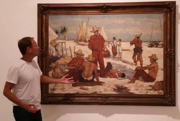 Ivo é autor da a tela exposta no memorial do Contestado da Câmara de Vereadores de Canoinhas (Foto: Reprodução).