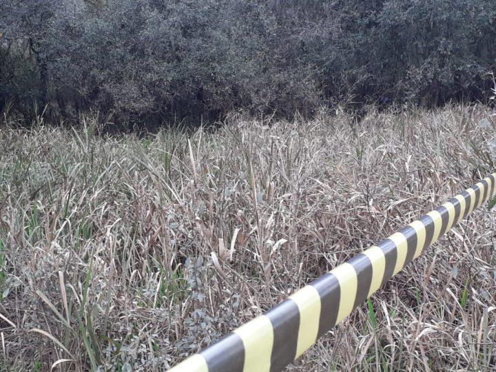 Local onde o homem foi encontrado morto (Fotos: Jaqueline Castaldon).