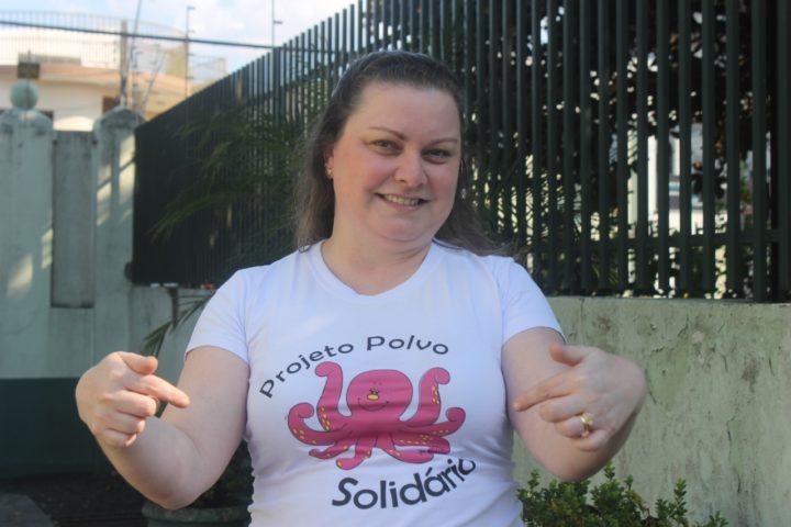 Viviane de Souza, pedagoga que desenvolveu o projeto em Curitiba