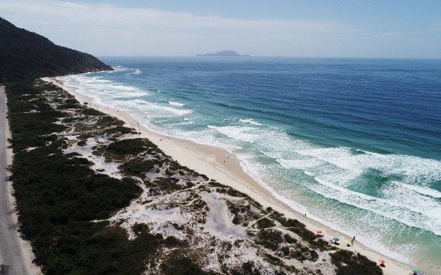 Praia dos Ingleses, em Capital   Foto: Cristiano Estrela/Secom