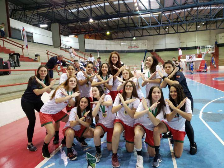 Seleção catarinense Sub-15 feminino campeã do Sul brasileiro