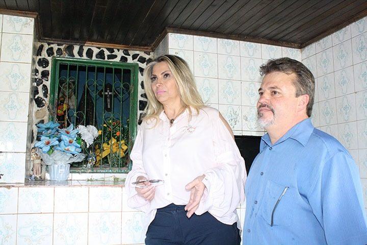 Cida Borghetti com o Prefeito de Matos Costa, Raul Ribas Neto
