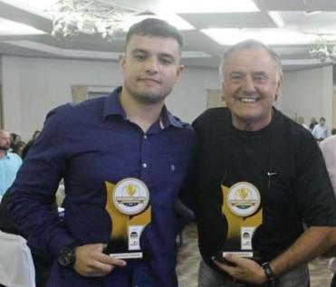 Jorginho com o pai Jorge Schwartz