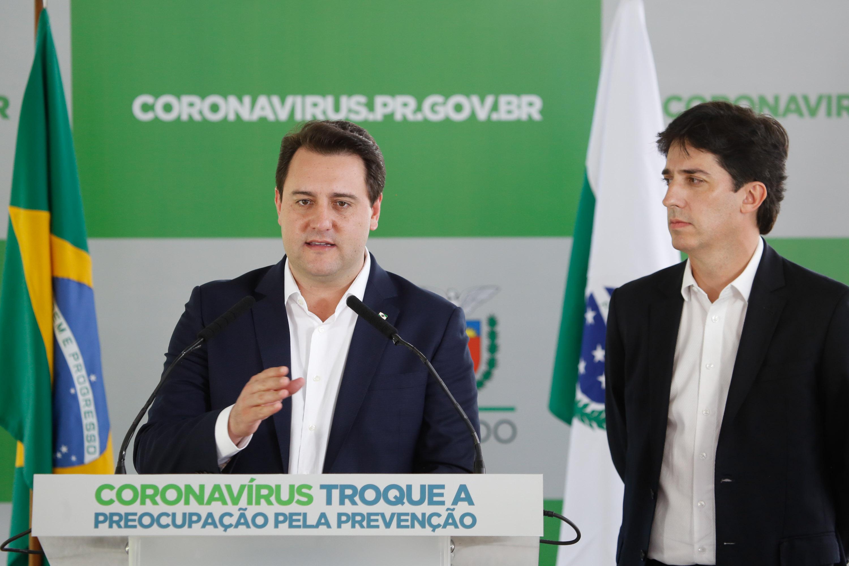 Pronunciamento do  governador Carlos Massa Ratinho Junior. (Foto Gilson Abreu).
