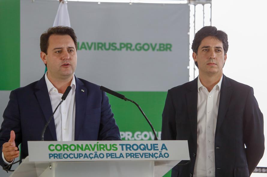 24/03/2020 - Pronunciamento do  governador Carlos Massa Ratinho Junior  Foto Gilson Abreu
