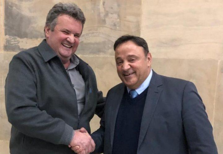 Prefeito Moacir Szinvelski e o deputado Hussein Bakri