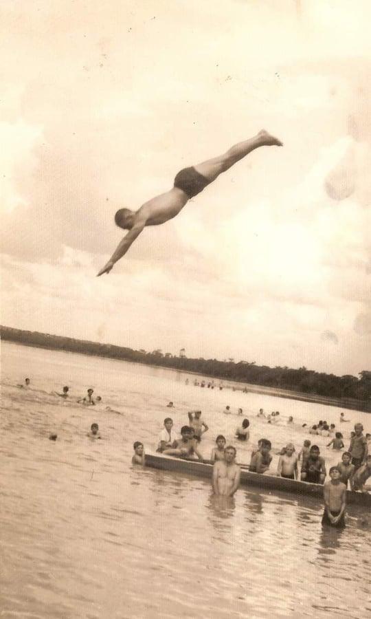 Balneário Santa Rosa (Reprodução\Internet) Foto que circula nos grupos de memórias da região, mostra um balneário bem movimentado há algumas décadas