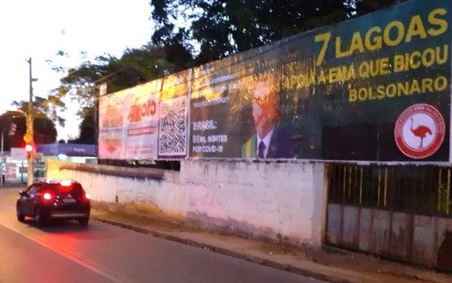 Disputa de apoiadores e contrários Á Bolsonaro em Sete Lagoas (MG)