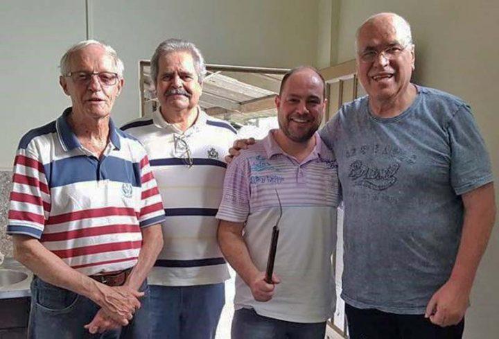 Os fundadores: Hilário Magnani e Gilberto Brittes, atual sócio administrador Marcelo Magnani e sócio Mário Emílio da Silva
