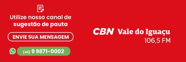 Whatsapp CBN - Mande sugestões, notícias, fotos e vídeos para: (42) 9871-0002